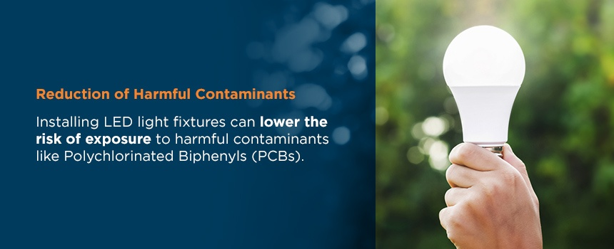 reduction in contamination